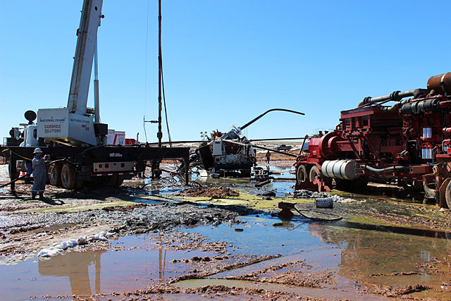 Site of gas well blowout