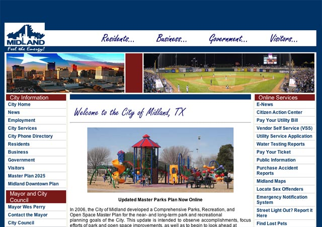 Modified Home page screenshot