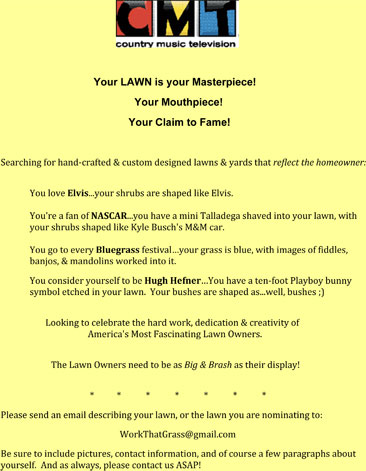 CMT Flyer for Lawn Wars
