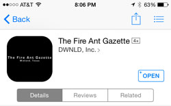 Screenshot of Gazette app download page
