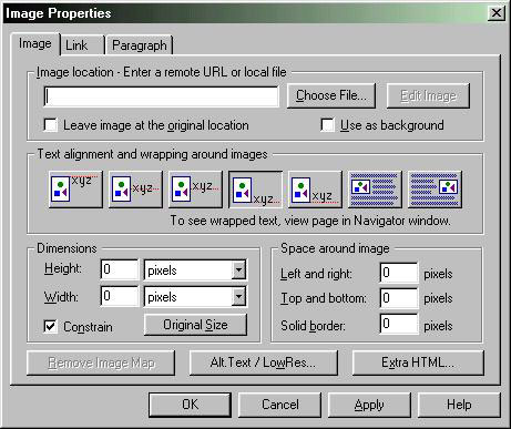 Netscape Composer screen capture