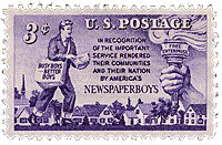 Newspaper Boy Stamp