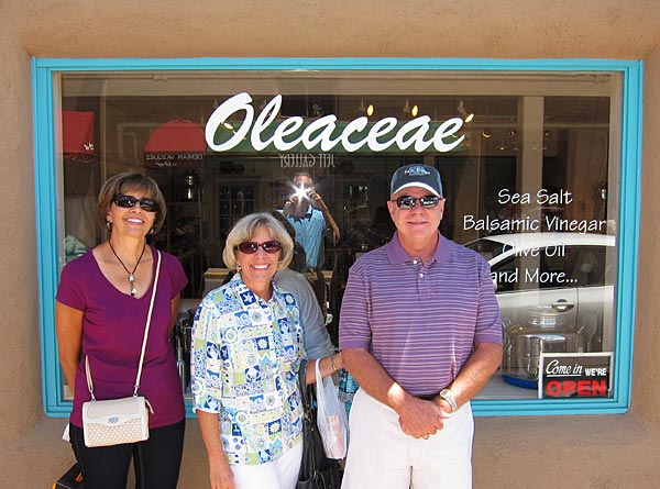 Photo of tourists in front of store