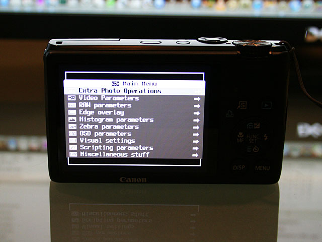 Photo - CHDK menu screen of S95