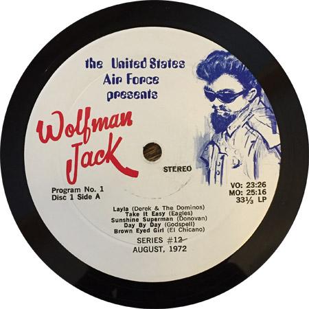 Wolfman Jack USAF Program label