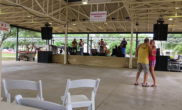 Dance area at the Crawfish Festival