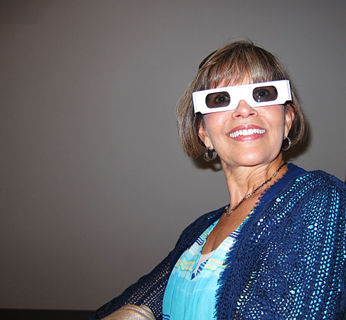 Photo of Debbie in 3D glasses