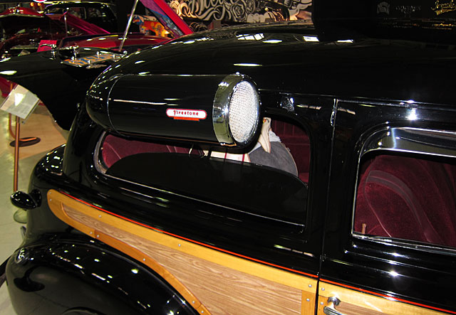 Photo of window-mounted car air conditioner