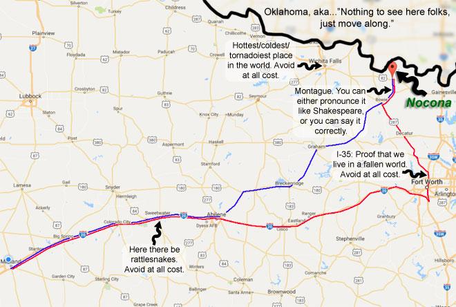 Google Map excerpt