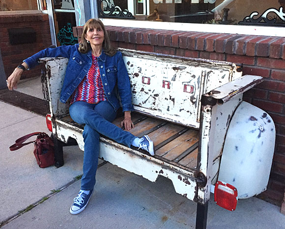 Photo - Bench made from pickup bed