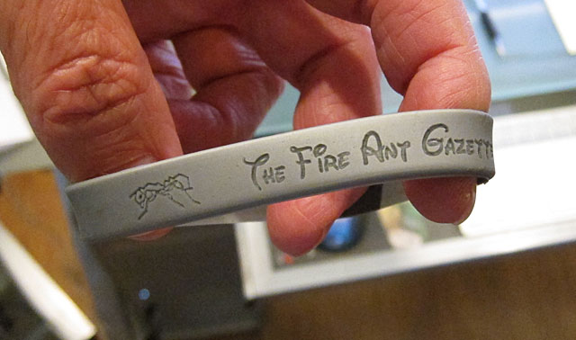 Photo - Fire Ant Gazette silicon wristband