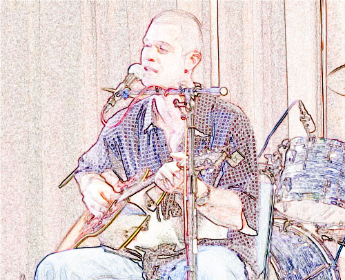 Stylized photo of Aaron Burton