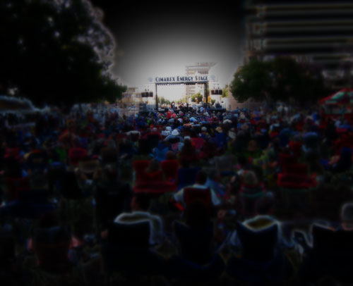 The crowd at the Tall City Bluesfest