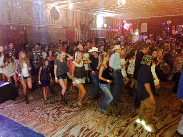 Line dancers pack the floor at Mercer Street Dance Hall