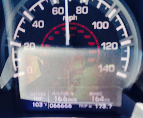 Photo of instrument cluster