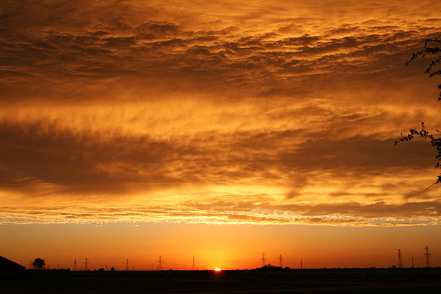 Photo of a West Texas sunset