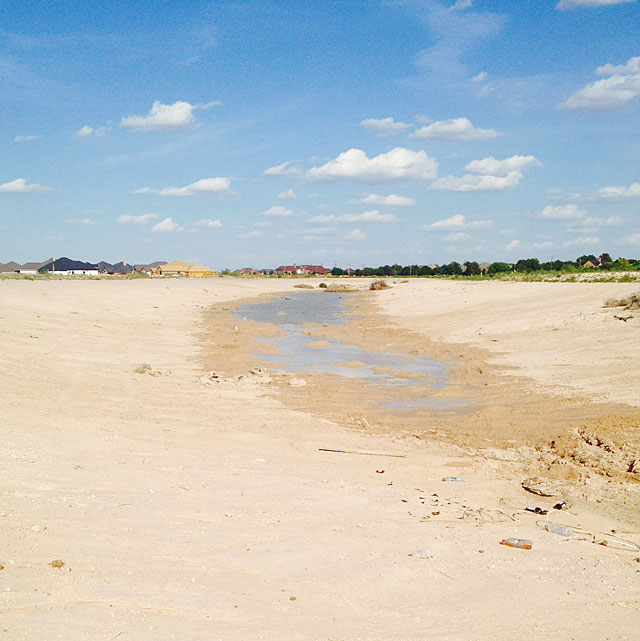 Water in West Texas ditch