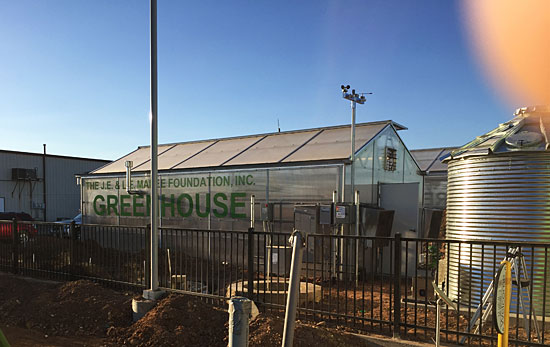 West Texas Food Bank's Midland Facility - Greenhouse