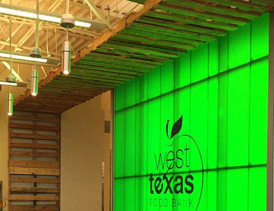 West Texas Food Bank's Midland Facility - Lobby