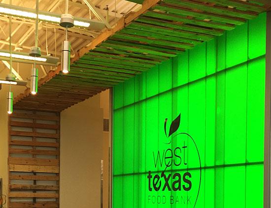West Texas Food Bank's Midland Facility - Lobby