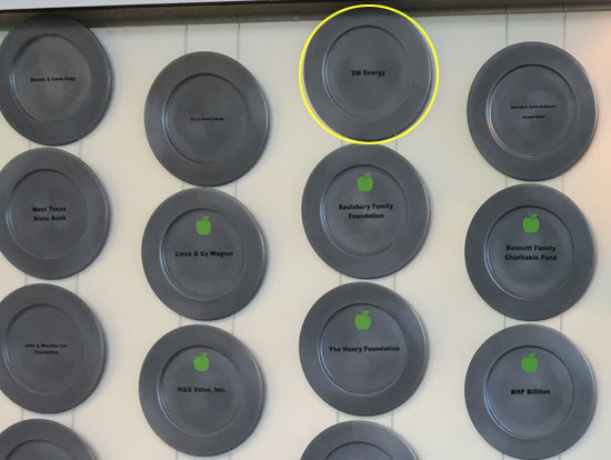 West Texas Food Bank's Midland Facility - Donor Plates