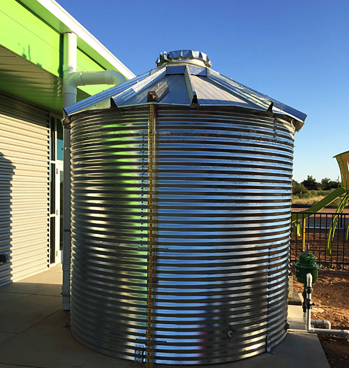 West Texas Food Bank's Midland Facility - Rainfall Collection System