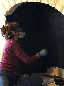 Photo - Painting firebrick